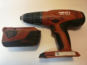 Hilti Sfh 18 a Cordless Li ion Hammer Drill 18v 1 2 Drive With 1 Battery