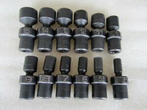 Matco Tools 1 4 Drive 12pc Metric 6pt Universal Flex Impact Socket Set Saupm126v