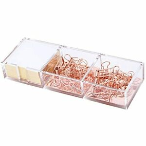 Rose Gold Notes Holder With Cube Memo Pad 320 Sheets Acrylic In 1 Drawer By