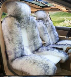 Genuine Australian Sheepskin Fur Car 1 Front Seat Cover Winter Universal M12 Us