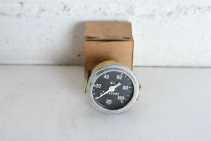 Rare Vintage 50s Stewart Warner Curved Glass Oil Pressure Gauge 360 A Hot Rod