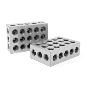 1 2 3 gauge Blocks 2 Pack 3 X 2 In X 1 In Steel Hardened Precision Calibrate