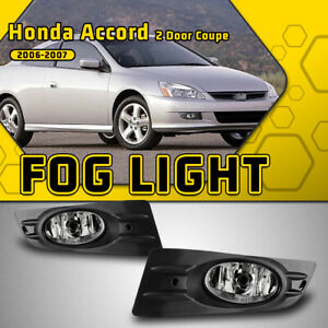 Fits 06 07 Honda Accord Coupe Fog Lights Clear Lens Switch Wiring Kit Left right