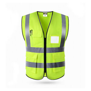 Safety Reflective Vest Security Visibility Shirt Construction Traffic Warehouse