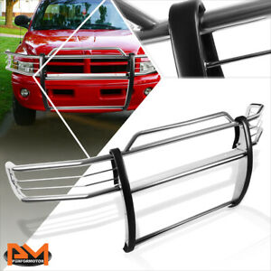 For 99 01 Dodge Ram 1500 Sport Front Bumper Brush Grill Guard Protector Chrome