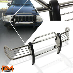 For 93 98 Jeep Grand Cherokee Zj Front Bumper Brush Grill Guard Protector Chrome