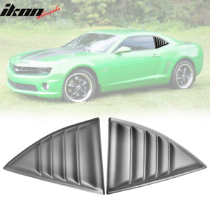 Fits 10 15 Chevy Camaro Xe Window Louvers Scoops Cover Pair Matte Black Pp