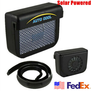 Solar Powered Car Window Ventilator Cooler Air Vent Cooling Fan Radiator 1x Usa