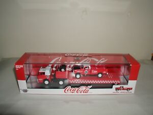 M2 Machines coca cola  1970 ford c-600/1970 ford f-100 custom 4x4 rc01 new