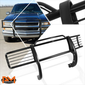 For 88 99 Chevy Gmc C K Gmt400 Front Bumper Brush Grill Guard Protector Black
