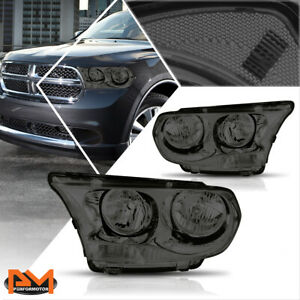 For 11 13 Dodge Durango Direct Replacement Headlight lamps Clear Corner Smoked