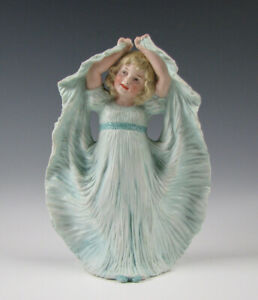 Antique Heubach German Bisque Porcelain Figurine Of A Young Girl 9