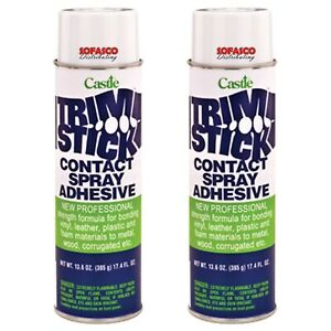 Castle Trim Stick Contact Spray Adhesive Fast Tack Strong Bond 2 Pack