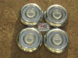1954 1955 Oldsmobile 88 Super 88 Holiday poverty Dog Dish Hubcaps Set Of 4