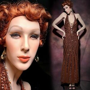 Pucci Mannequin Female Elegant Full Realistic Detailed Couture Art Deco Vintage