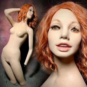 Wolf vine Mannequin Creepy Smiling Display Female Realistic Vintage Oddity