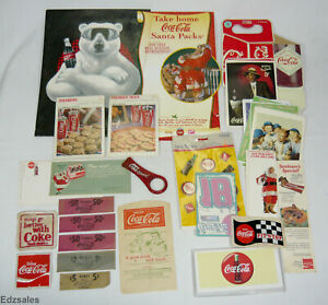 Coca Cola Advertising - Coke Patches  Coin Wrappers  Drip Protectors  Post Cards