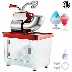 397lbs Commercial Snow Cone Machine Ice Shaver Ice Crusher Ice Blender Etl 180kg