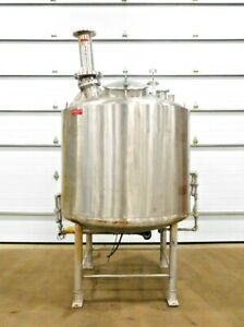 Mo 3376 Sharpsville 600 Gallon Stainless Tank W Admix High Shear Mixer 316 Ss