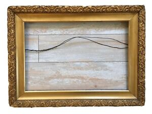 Antique 19th Century Ornate Gold Gilt Gesso Wood Victorian Art Picture Frame