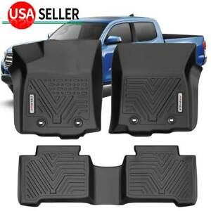 All Weather Floor Mats Liners For 2018 2021 Toyota Tacoma Crew Cab Protection