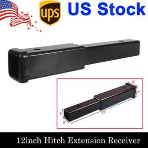 12 Inch Trailer Hitch Extension Receiver 2 Extender 5 8 Pin Hole 4000 Lbs Tow