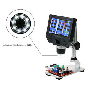 Digital Microscope Magnifier Lcd Display For Magnification W Stand Usb Charging