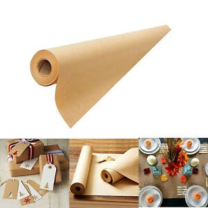100ft Brown Kraft Paper Jumbo Roll Postal Packing Shipping Parcel Gift Wrapping