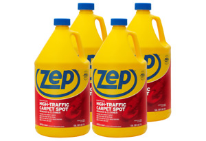 Zep High Traffic Carpet Cleaner 1 Gallon Zuhtc128 case Of 4 penetrating Formula