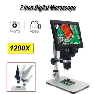 Digital Microscope 1 1200x 7 Inch 1080p Video Endoscope Magnifier Amplification