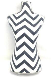 Women s Hard Dress Form Mannequin Gray And White Chevron 26