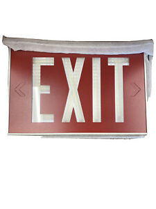 Glow In The Dark ul924 Letter Red Led Emergency Exit Light Sign No Wiring