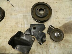 Ford 390 360 Air Conditioning Idler Crank Pulley Brackets 1968 1969 1970 4 Piece