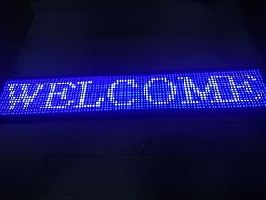 Ds Ledsign P10 Indoor Full Color Led Sign 39 X 7 5 Programmable Led