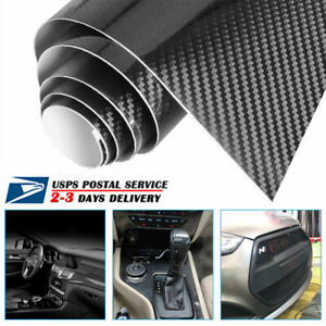 5d Waterproof Carbon Fiber Vinyl Car Wrap Sheet Roll Film Sticker Decal Paper Us