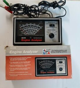 Sears Engine Analyzer Tune up Ignition starting charging Test Meter 9 2163 W box
