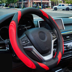 Car Steering Wheel Cover Sports Non Slip Breathable Not Easy To Wear Out Red
