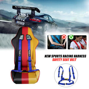2 Inch 4 Point Adjustable Racing Sport Car Seat Belt Safety Harness Strap Jdm