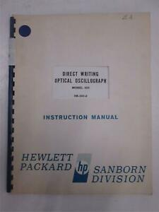 Hp Model 650 Direct Writing Optical Oscillograph Instruction Manual Used