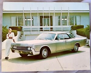 Nos 1967 Lincoln Continental Stainless Steel Promo Allegheny Ludlum Steel