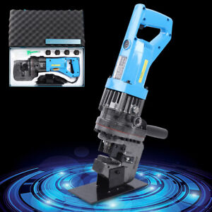 Electric Hydraulic Hole Punch Puncher Steel Plate Hole Punching Machine W Dies