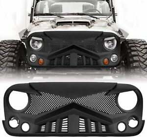 Front Bumper Grille Offroad Guard Mesh Grill For 2007 2017 18 Jeep Wrangler Jk