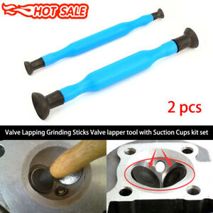 2x Valve Lapping Grinding Sticks Valve Lapper Tool With Suction Cups Set