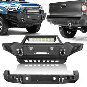 Front Rear Bumper Led Lights D Rings Winch Seat For Toyota Tacoma 2005 2015