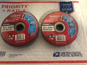 Diablo Metal Cut Off Disc Cutting Angle Grinder Thin Kerf 4 1 2 Inch 15 Pack 2pk
