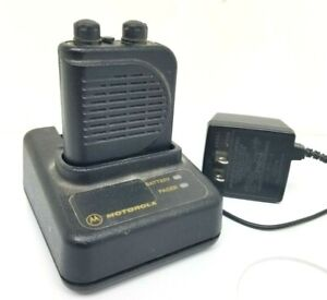 Motorola Minitor Iii 3 Voice Pager 2 Ch Battery Charger Clip Fire Dept Ems