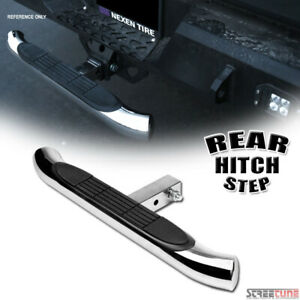 Chrome Steel Rear Hitch Step Bar Guard For 2 Trailer Tow Tailgate Receiver S08
