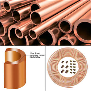 25 Ft 3 16 In Copper Nickel Coil Brake Line Replacement Tubing Kit W 16 Fittings