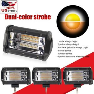 4x 5 Spot Led Work Light Lamp Car Truck Driving Ute Offroad 3000k Amber White