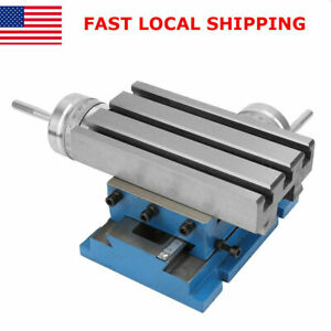 Pro Milling Machine Bench Fixture Worktable Cross Slide Table Drill Vise 4 7 3in